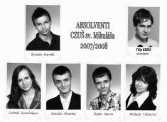 Absolventi Cirkevnej základnej   umeleckej školy sv. Mikuláša 2008