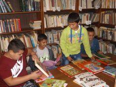 Deti v obecnej knižnici